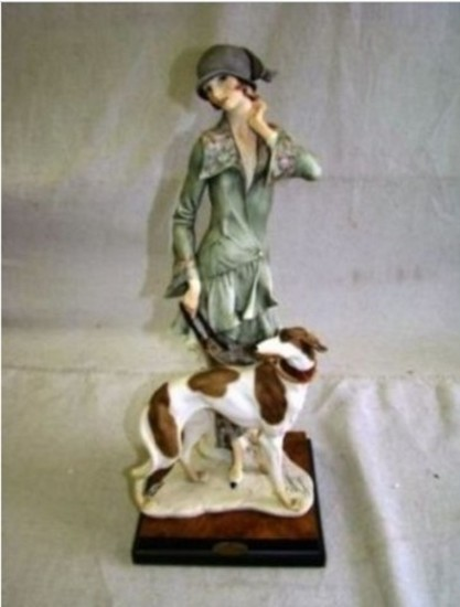 GIUSEPPE ARMANI COLLECTIBLE - LADY WITH BORZ (MY FAIR LADY COLLECTION) - #0195-C - 4321/5000
