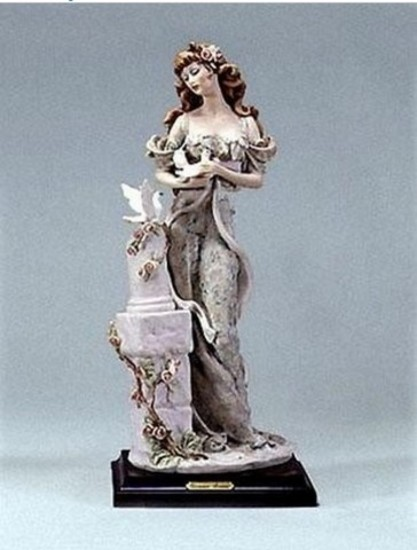 GIUSEPPE ARMANI COLLECTIBLE - LADY WITH DOGS (1994 SOCIETY GIFT) - #0425-F