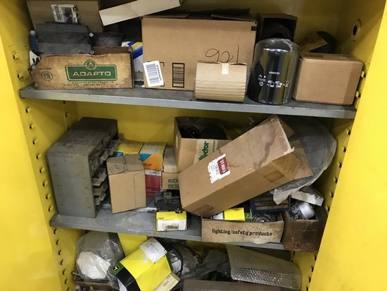 LOT FILTERS, ETC - CONTENTS OF CABINET