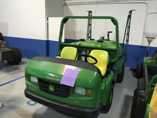 2015 JOHN DEERE PRO GATOR 2020A WITH HD200 200 GALLON TANK / SPRAYER - 1TC202ATCFT085043 - 948.0 HOU
