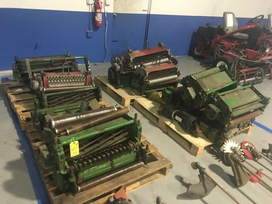 SKIDS ASSORTED REEL MOWER PARTS
