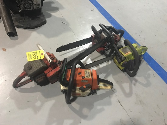 ASSORTED CHAIN SAWS