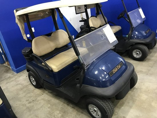 2016 CLUB CAR PRECEDENT GOLF CART WITH CHARGER - BLUE - 48V (6 MATCHING 8V BATTERIES) (CART #21) (RO