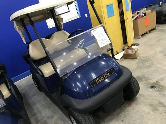 2016 CLUB CAR PRECEDENT GOLF CART WITH CHARGER - BLUE - 48V (6 MATCHING 8V BATTERIES) (CART #46) (ST
