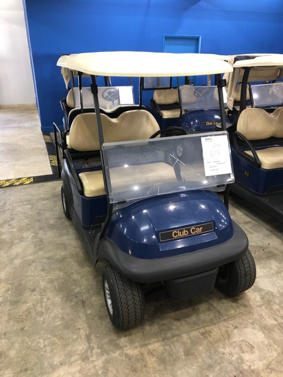 2016 CLUB CAR PRECEDENT GOLF CART WITH CHARGER - BLUE - 48V (6 MATCHING 8V BATTERIES) (CART #70)