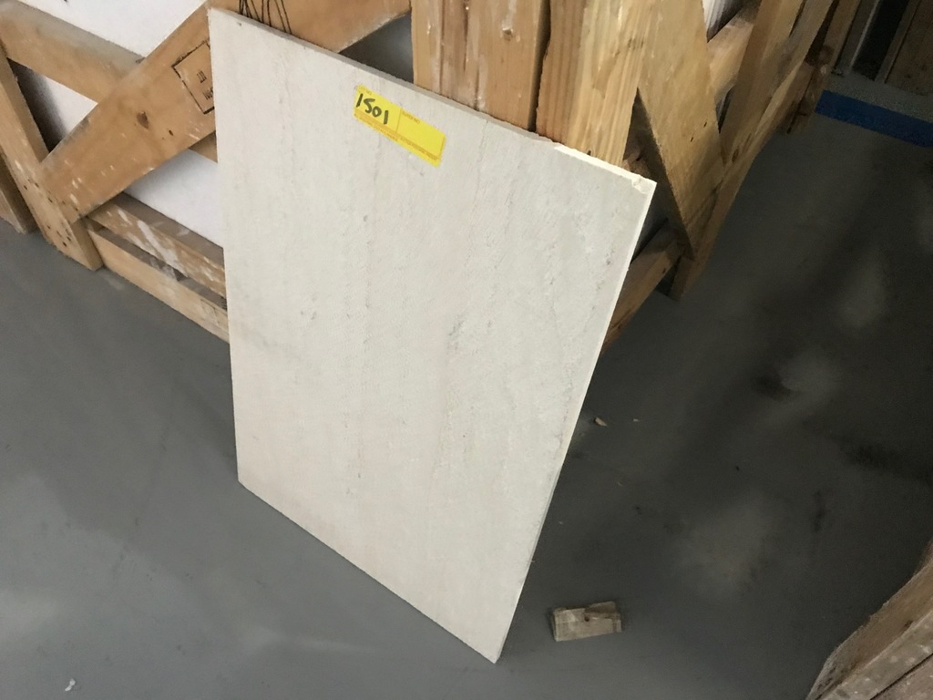 SQ.FT. - HONED VEIN CUT MARBLE - 16'' x 24'' x 7/16'' - 160 PIECES / 427.20 SQ.FT. (CRATE #44)