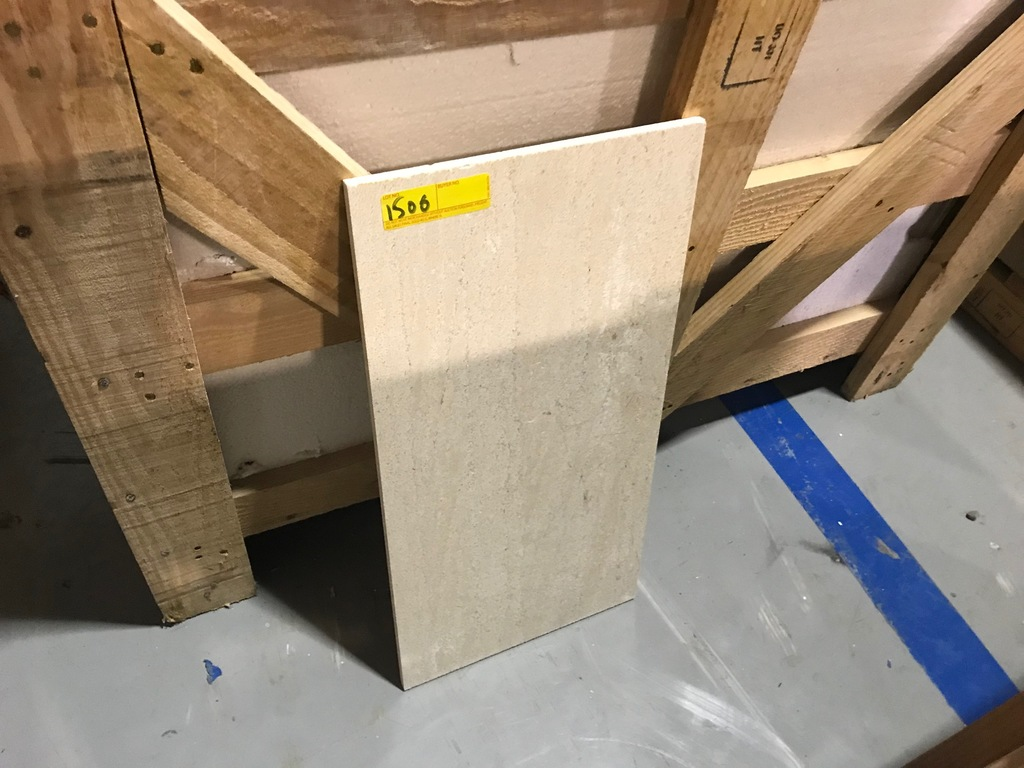 SQ.FT. - POLISHED VEIN CUT MARBLE - 12'' x 24'' x 7/16'' - 164 PIECES / 328 SQ.FT. (CRATE #94)
