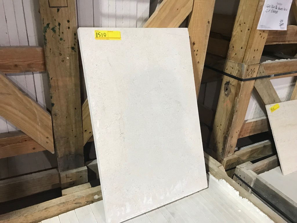 SQ.FT. - HONED CROSS CUT MARBLE - 16'' x 24'' x 1'' - 76 PIECES / 202.92 SQ.FT. (CRATE #85)