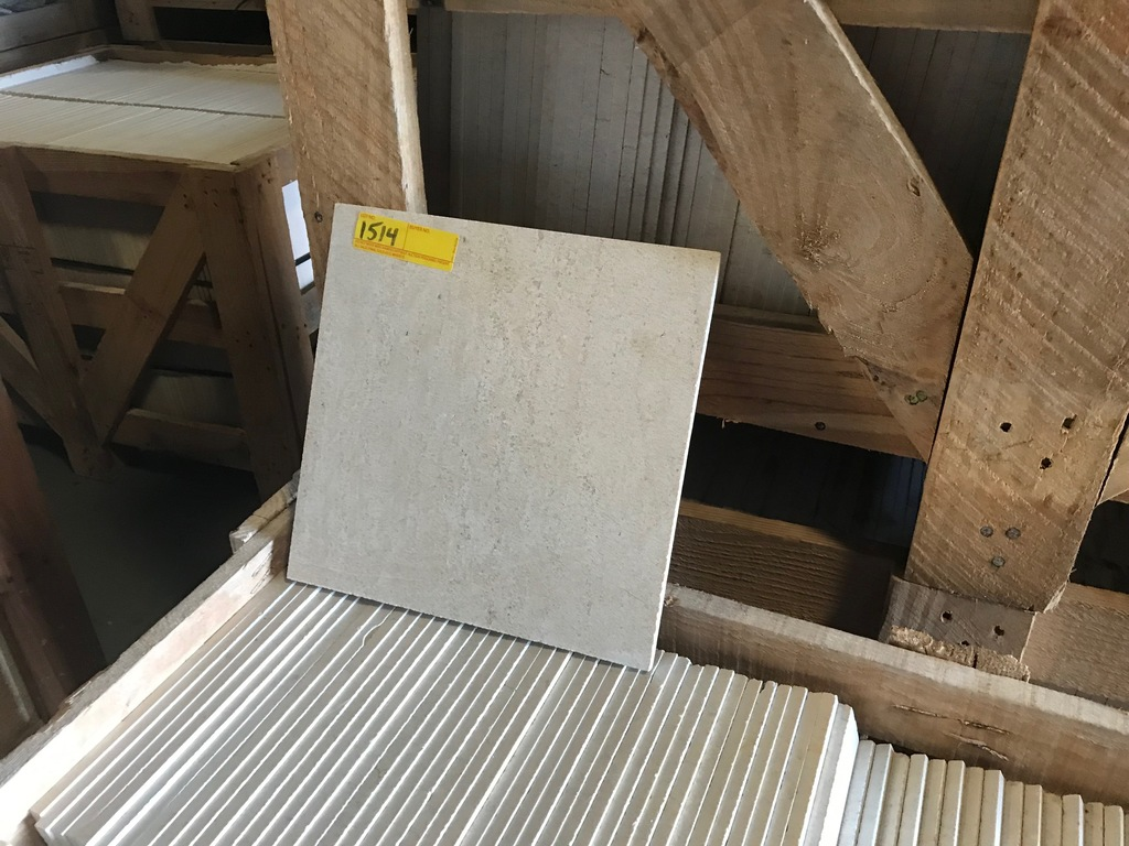 SQ.FT. - POLISHED VEIN CUT MARBLE - 12'' x 12'' x 7/16'' - 344 PIECES / 344 SQ.FT. (CRATE #131)