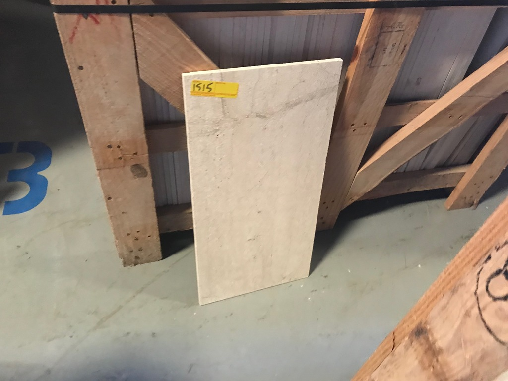 SQ.FT. - HONED CROSS CUT MARBLE - 12'' x 24'' x 7/16'' - 66 PIECES / 132 SQ.FT. (CRATE #133)