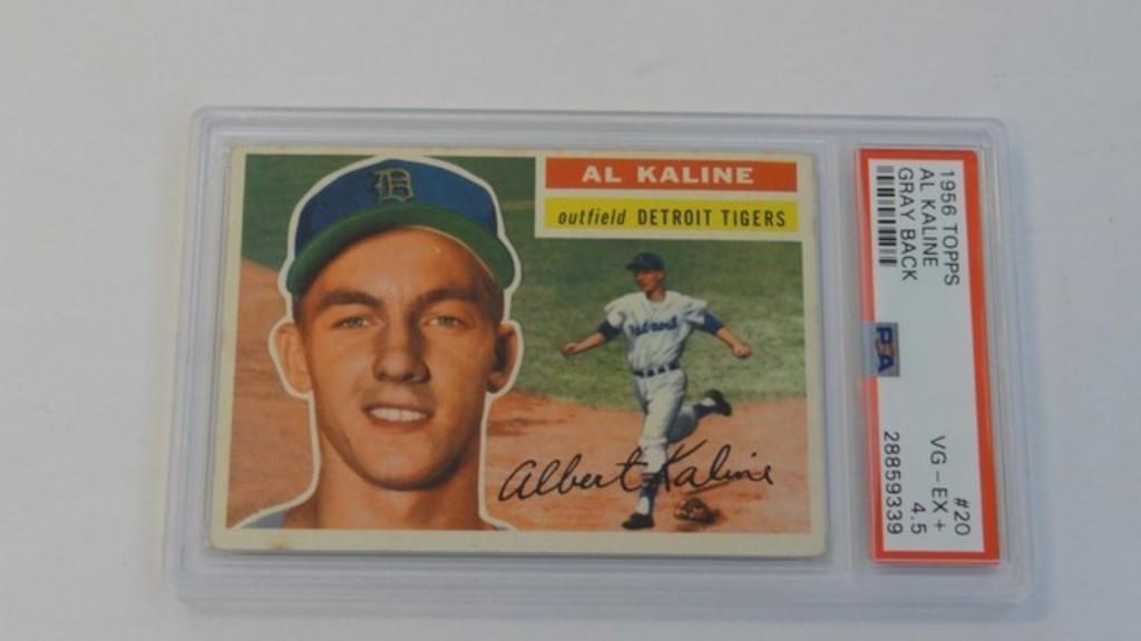BASEBALL CARD - 1956 TOPPS #20 - AL KALINE - PSA GRADE 4.5