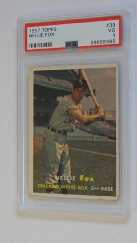 BASEBALL CARD - 1957 TOPPS #38 - NELLIE FOX - PSA GRADE 3