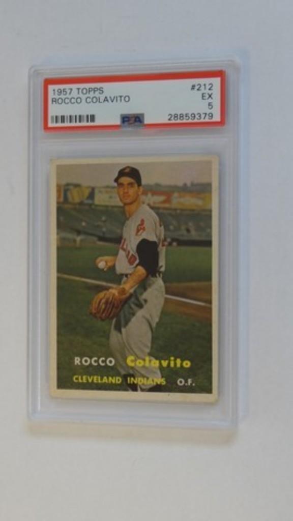 BASEBALL CARD - 1957 TOPPS #212 - ROCCO COLAVITO - PSA GRADE 5