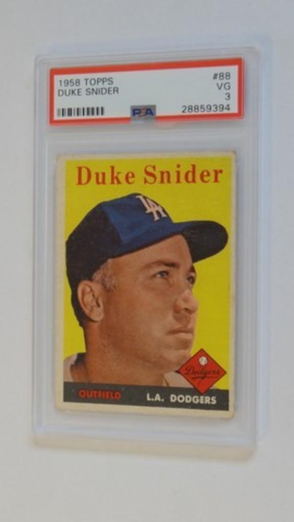BASEBALL CARD - 1958 TOPPS #88 - DUKE SNIDER - PSA GRADE 3