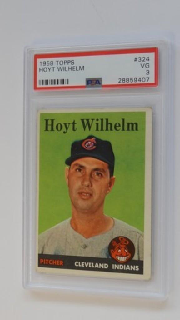 BASEBALL CARD - 1958 TOPPS #324 - HOYT WILHELM - PSA GRADE 3