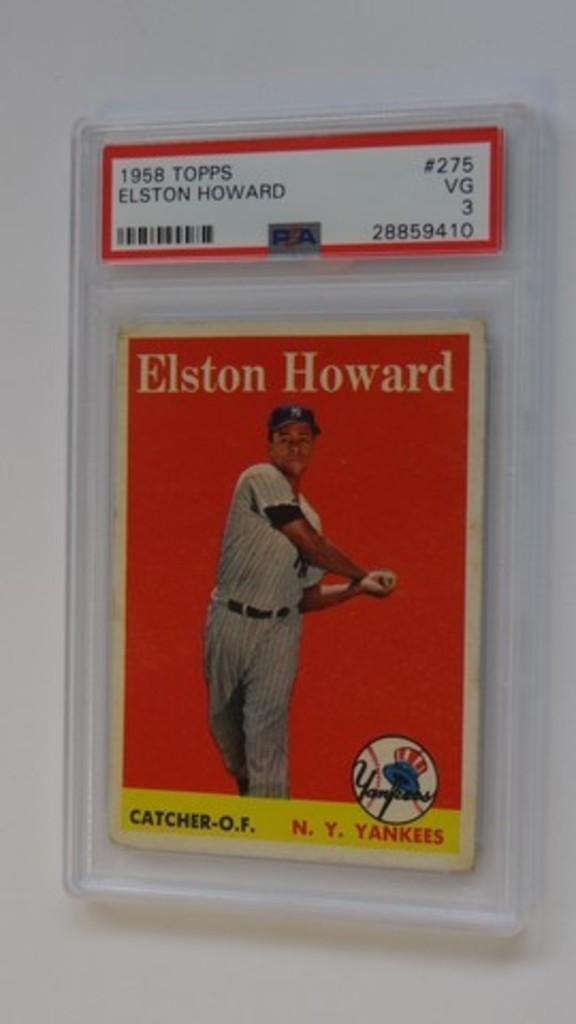 BASEBALL CARD - 1958 TOPPS #275 - ELSTON HOWARD - PSA GRADE 3