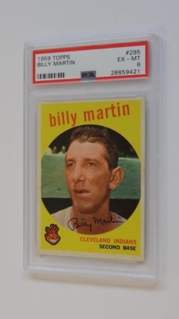 BASEBALL CARD - 1959 TOPPS #295 - BILLY MARTIN - PSA GRADE 6