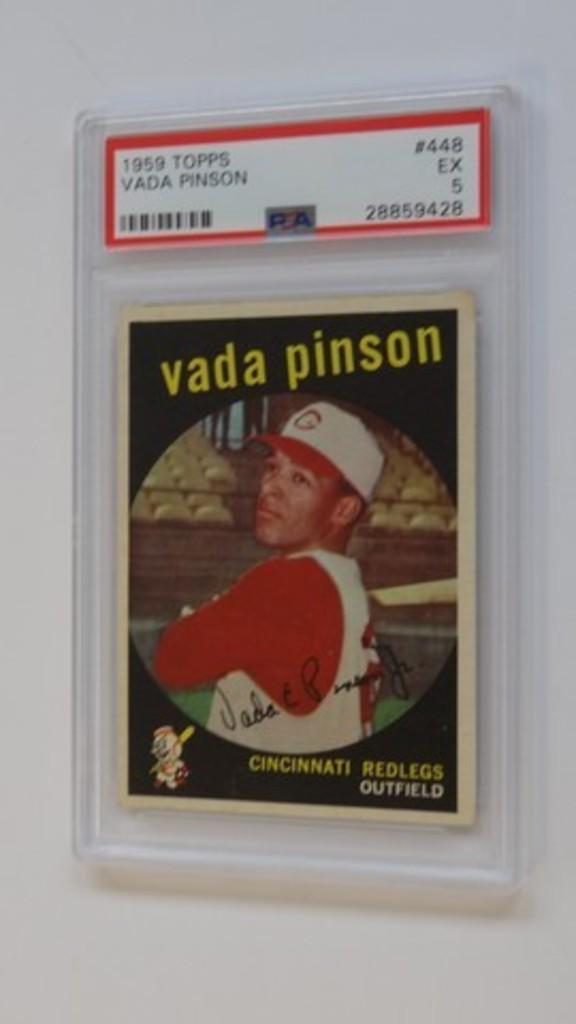 BASEBALL CARD - 1959 TOPPS #448 - VADA PINSON - PSA GRADE 5