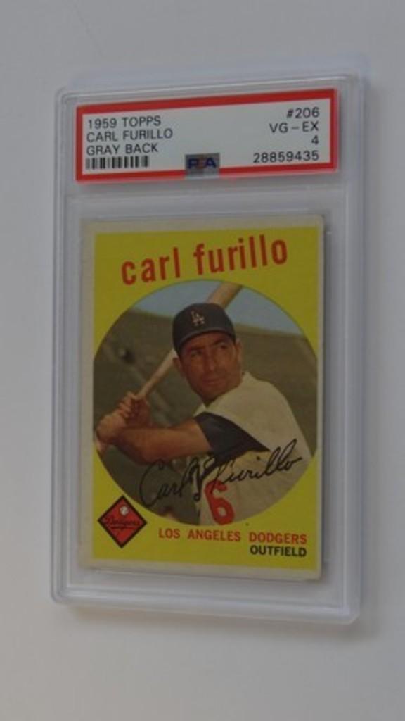 BASEBALL CARD - 1959 TOPPS #206 - CARL FURILLO - PSA GRADE 4