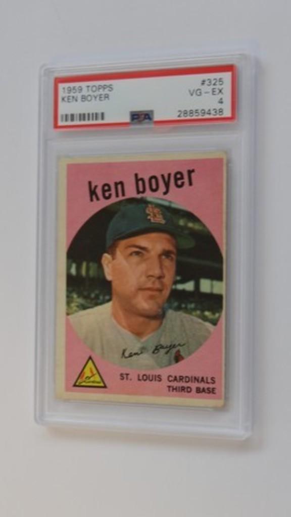 BASEBALL CARD - 1959 TOPPS #325 - KEN BOYER - PSA GRADE 4