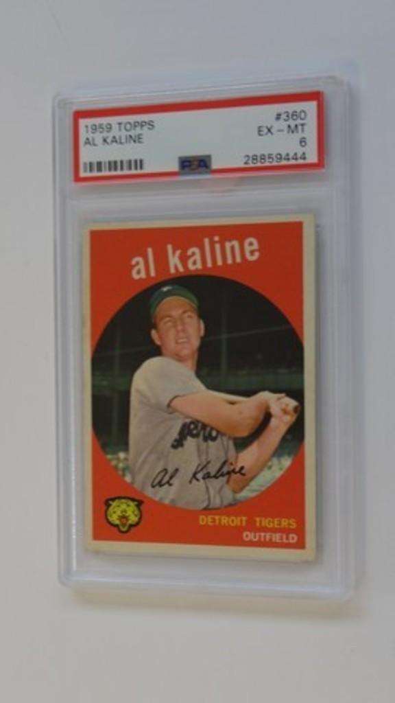 BASEBALL CARD - 1959 TOPPS #360 - AL KALINE - PSA GRADE 6