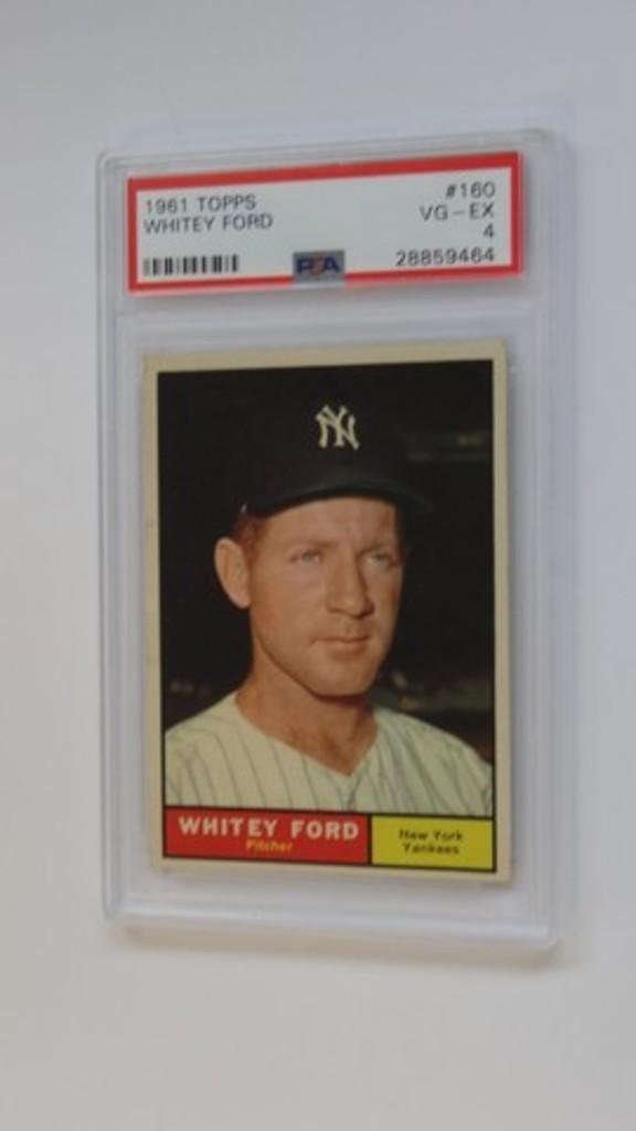 BASEBALL CARD - 1961 TOPPS #160 - WHITEY FORD - PSA GRADE 4