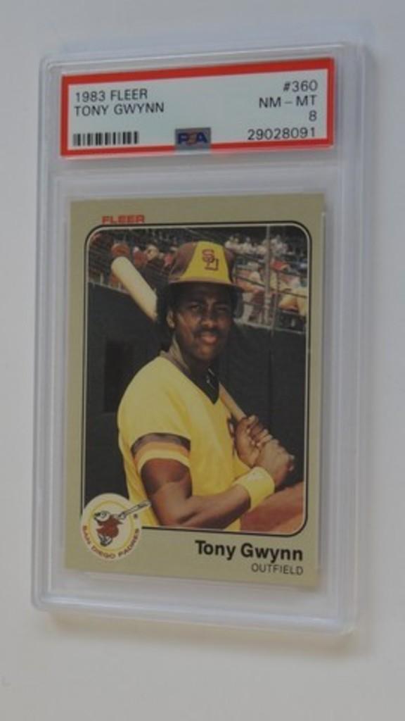 BASEBALL CARD - 1983 FLEER #360 - TONY GWYNN - PSA GRADE 8 NM-MT