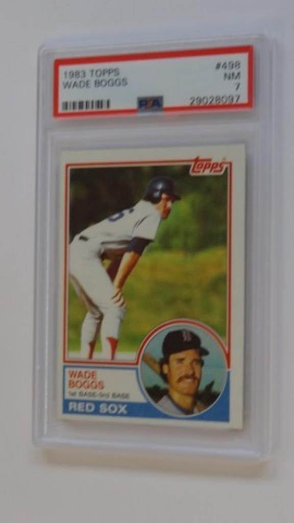 BASEBALL CARD - 1983 TOPPS #498 - WADE BOGGS - PSA GRADE 7 NM
