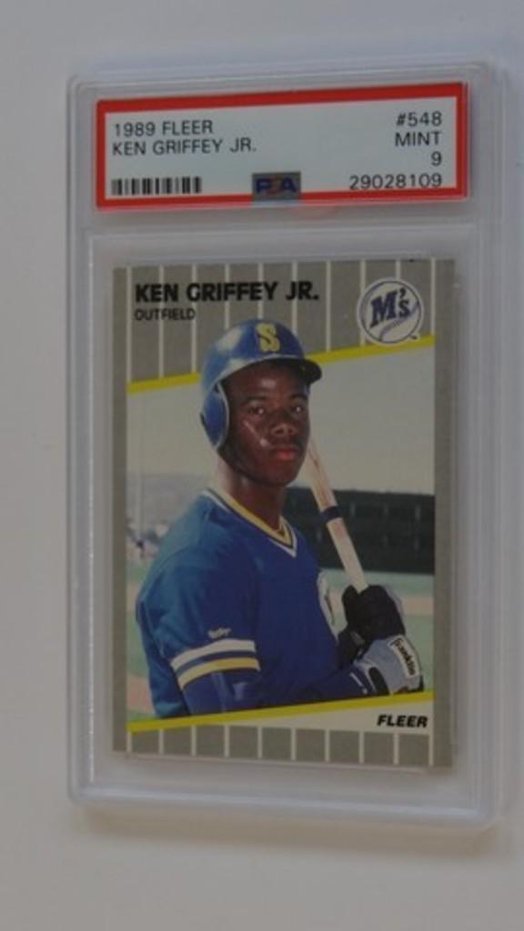 BASEBALL CARD - 1989 FLEER #548 - KEN GRIFFEY JR - PSA GRADE 9 MINT