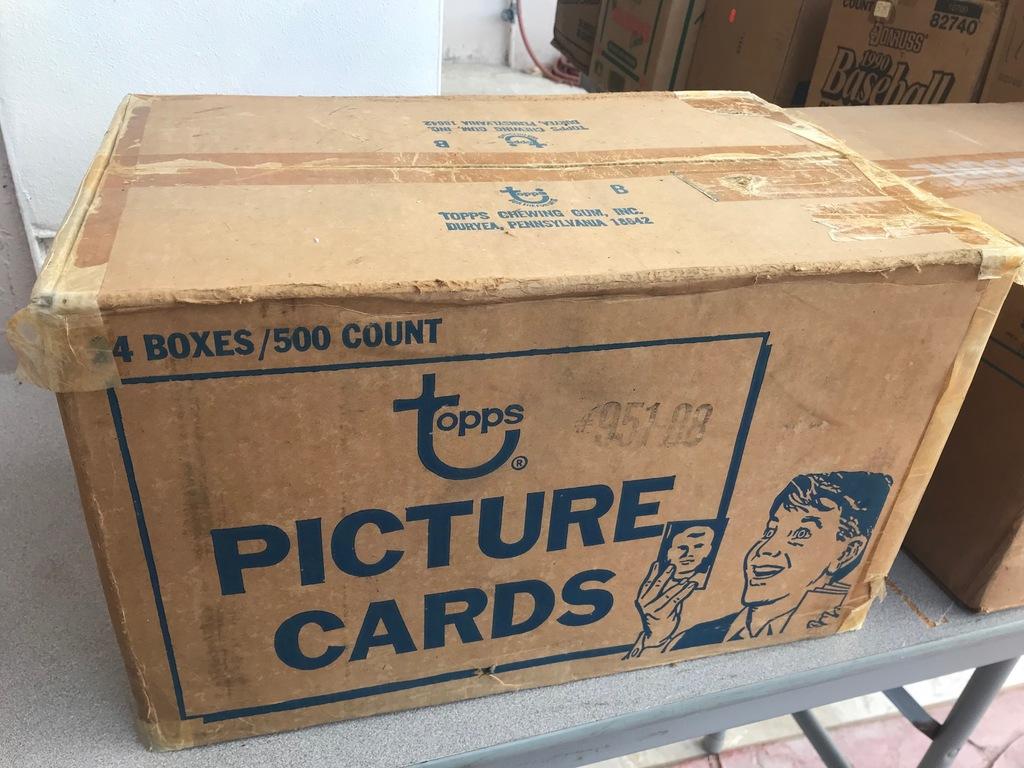 1988 TOPPS BASEBALL VENDING CASE - 24 BOXES (500 CT / BOX) - SEALED