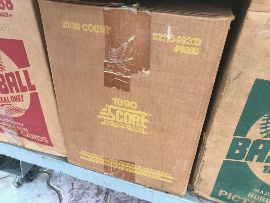 1990 SCORE BASEBALL WAX CASE - 20 BOXES (36 CT / BOX) - SEALED