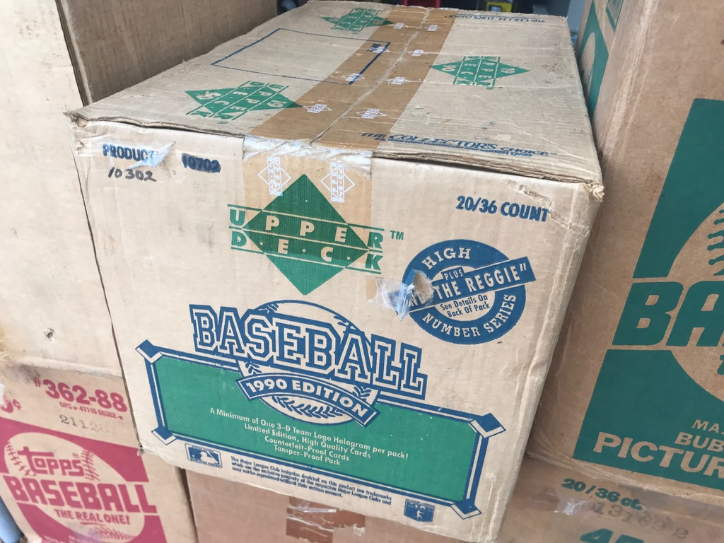 1990 UPPER DECK BASEBALL WAX CASE - 20 BOXES (36 CT / BOX) - SEALED