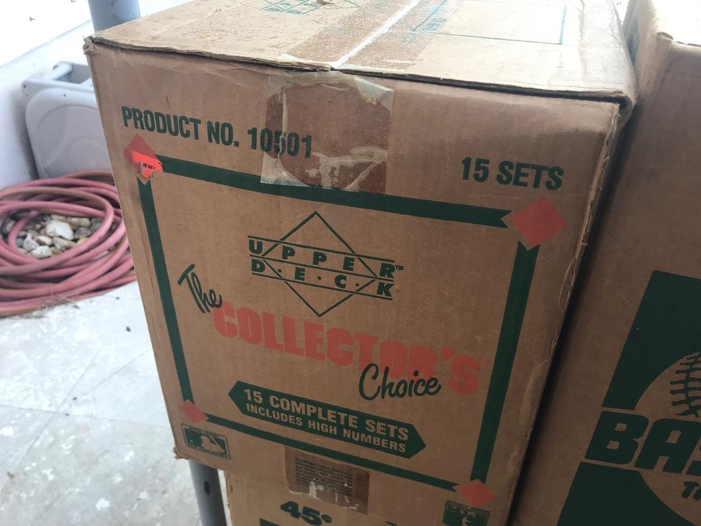 1989 UPPER DECK BASEBALL SET CASE - 15 BOXES - SEALED