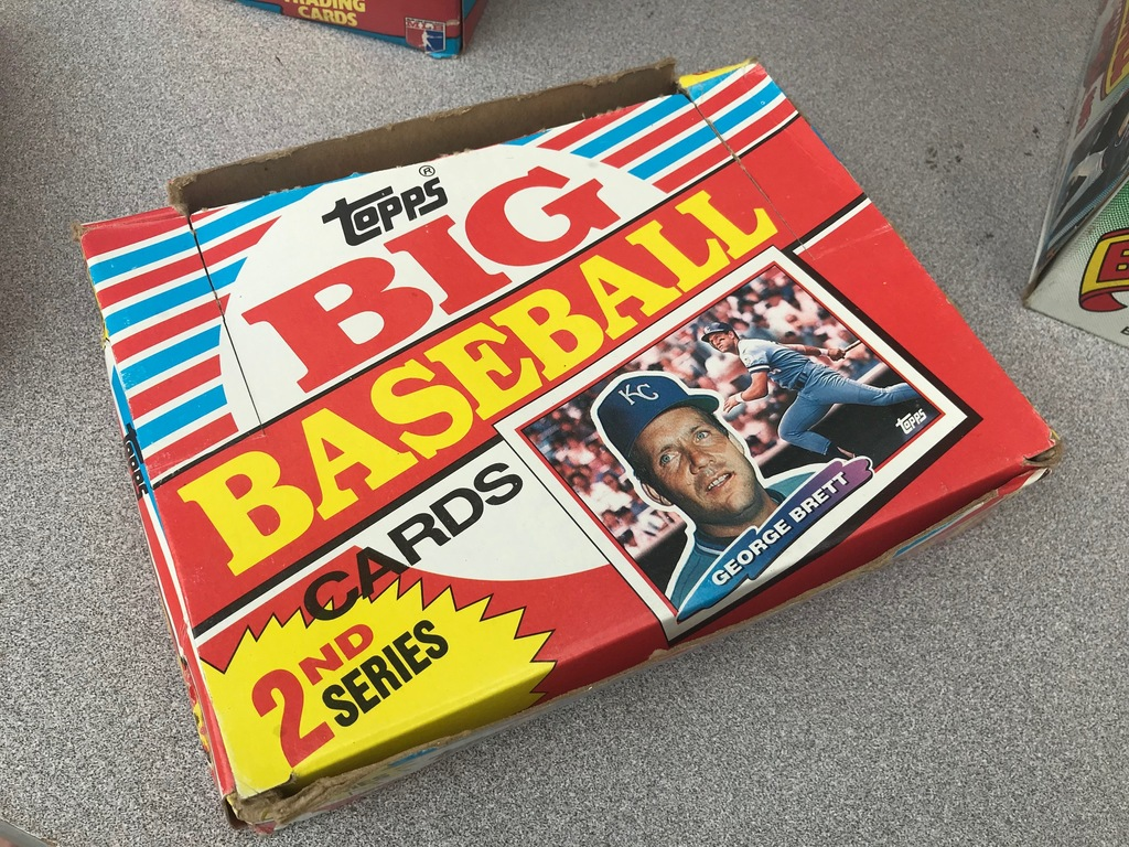 1989 TOPPS BIG BASEBALL 2ND SERIES WAX BOX