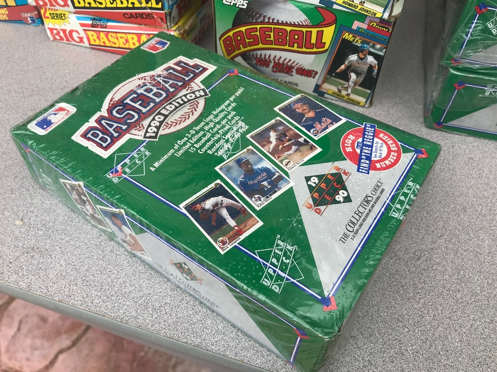 1990 UPPER DECK BASEBALL WAX BOX