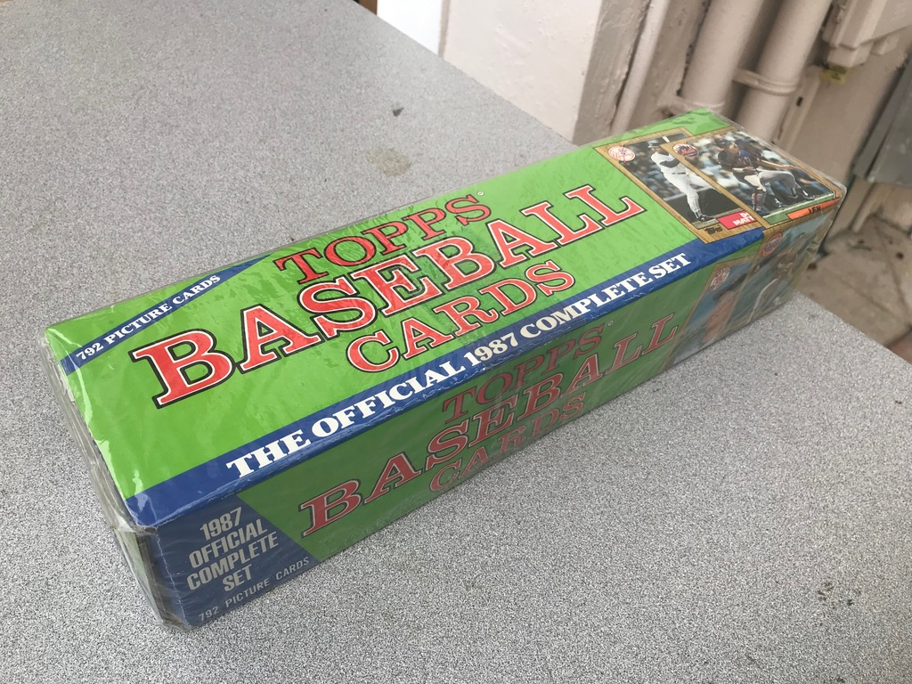 1987 TOPPS BASEBALL FACTORY SEALED SET PICTURE BOX
