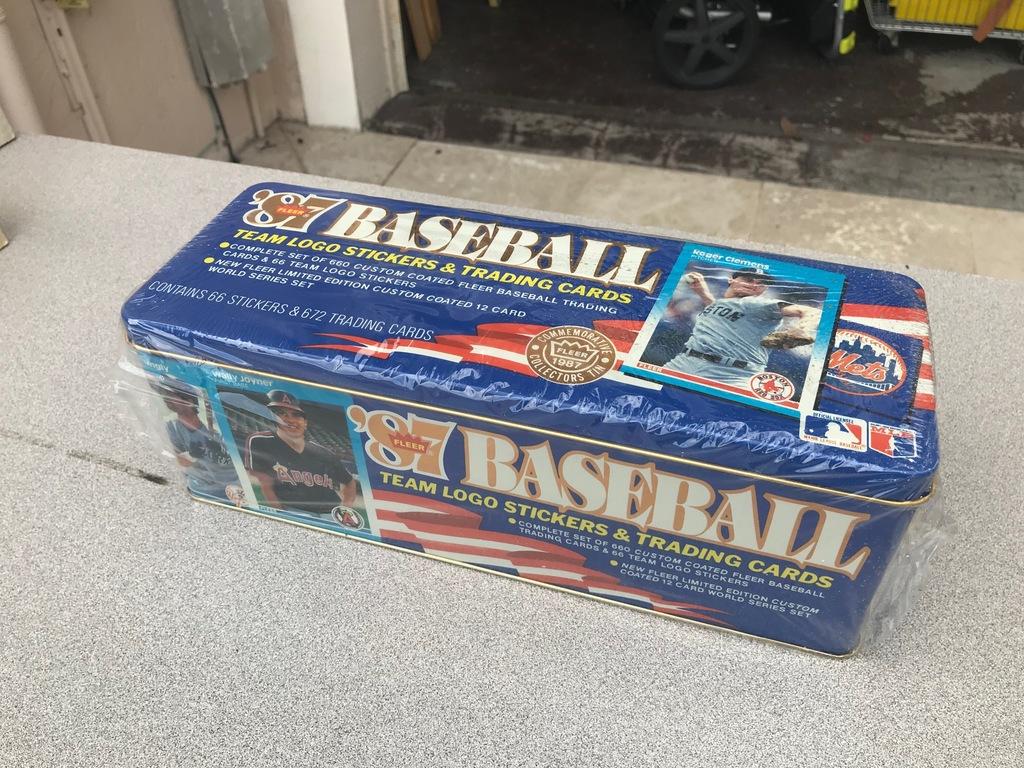 1987 FLEER BASEBALL GLASSY TIN FACTORY SET - SEALED