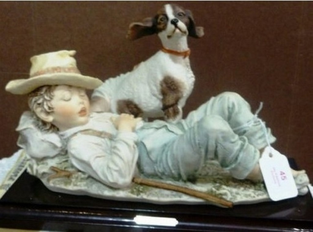GIUSEPPE ARMANI COLLECTIBLE - RECYCLING BOY WITH DOG