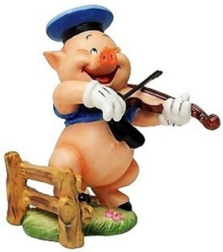 WALT DISNEY COLLECTIBLE - FIDDLER PIG