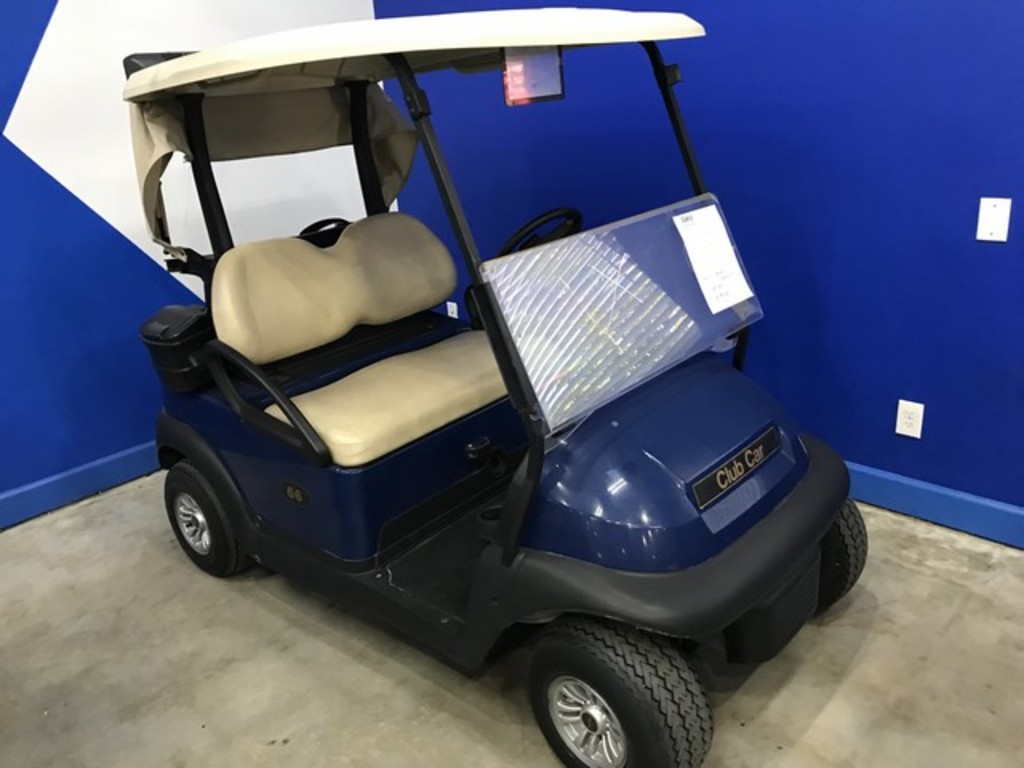 2016 CLUB CAR PRECEDENT GOLF CART WITH CHARGER - BLUE - 48V (6 MATCHING 8V BATTERIES) (CART #66)