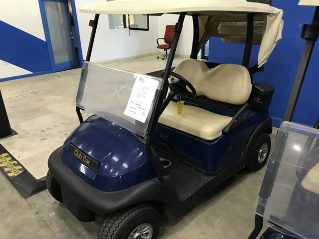 2016 CLUB CAR PRECEDENT GOLF CART WITH CHARGER - BLUE - 48V (6 MATCHING 8V BATTERIES) (CART #36) (CA