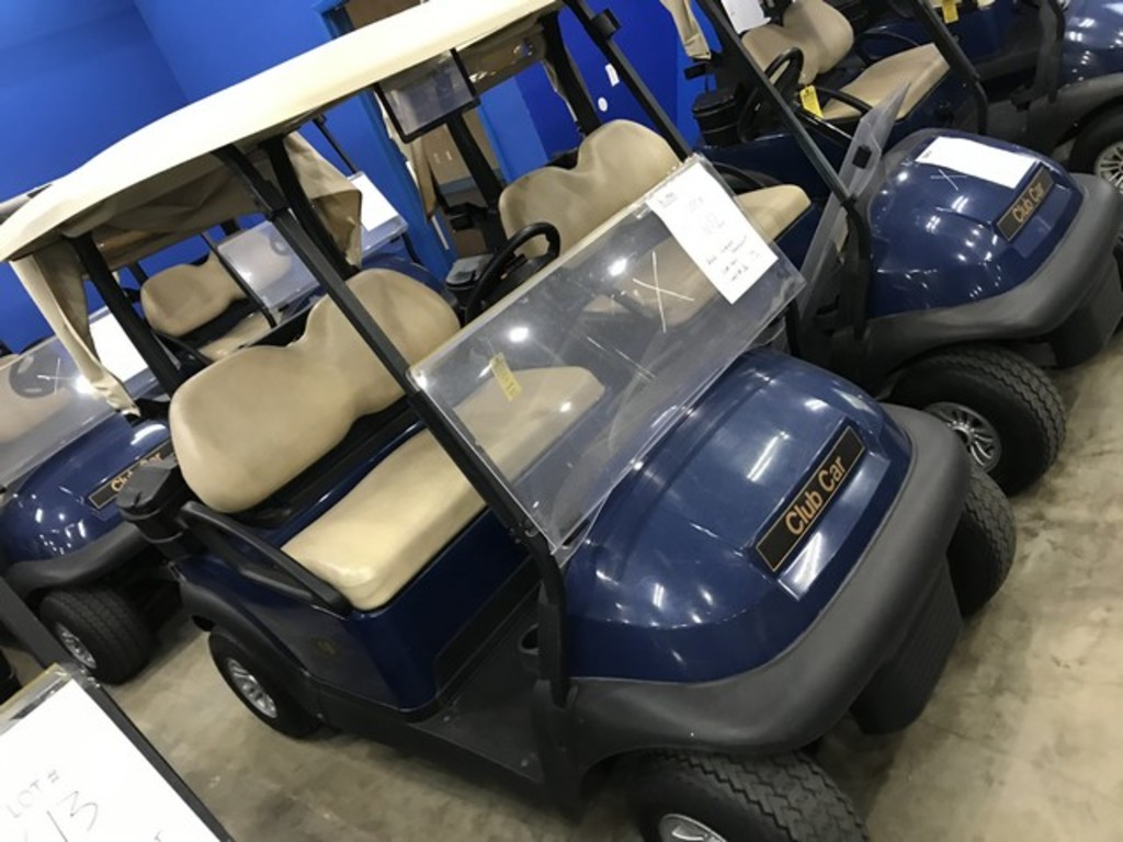 2016 CLUB CAR PRECEDENT GOLF CART WITH CHARGER - BLUE - 48V (6 MATCHING 8V BATTERIES) (CART #18) (CA