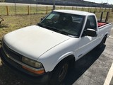 2000 CHEVY S-10 PICKUP TRUCK - 1GCCS1450Y8211697 - WHITE