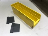 YELLOW 'AKRO-MILS' #30120 BINS WITH 200 DIVIDERS