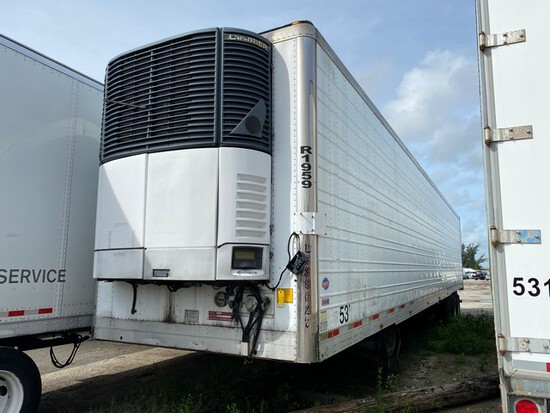 2006 UTILITY 3000R TRAILER WITH CARRIER REFRIGERATED UNIT - VIN #1UYVS25327U620513 - WHITE - 53' - A