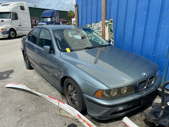 2002 BMW - VIN #WBADT63462CH91906 - BLUE - LEATHER INTERIOR - SUNROOF - MILES UNKNOWN (NO KEYS) (LOC