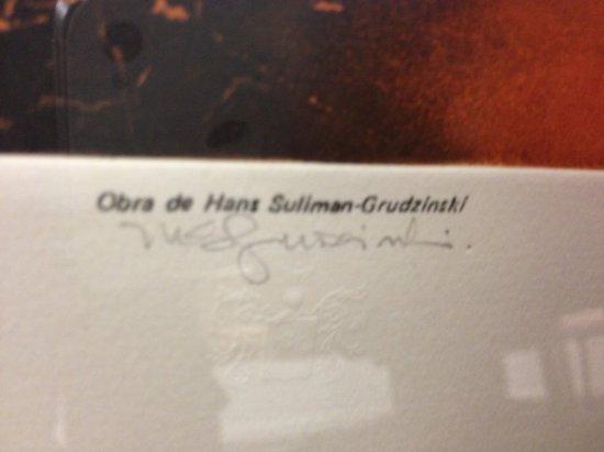 ART - PELADA - SIGNED HANS SULIMAN-GRUDZINSKI (LOWER