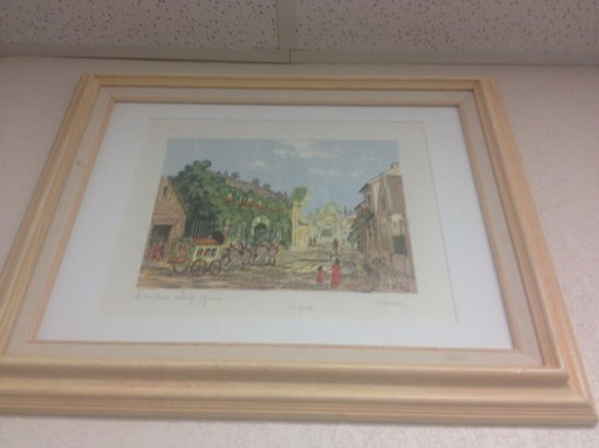 ART - PEN & INK WATERCOLOR - SIGNED HOTOY (LOWER RIGHT