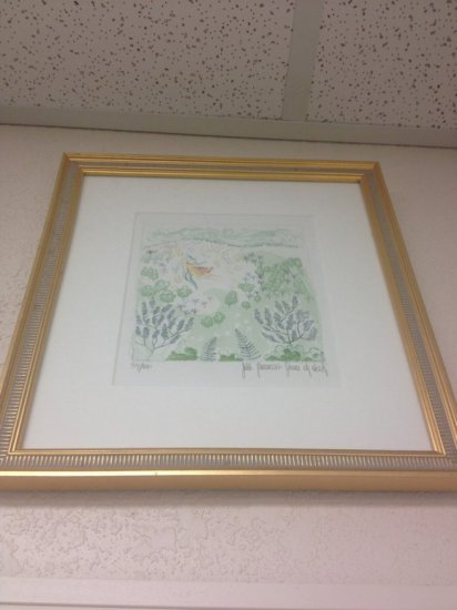 ART - FAIRY IN THE FOREST - PEN & WATERCOLOR - SIGNED
