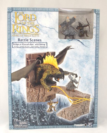 Balrog at Khazad-dum Lord of the Rings Battle Scenes Boxed Miniatures Figure Playset